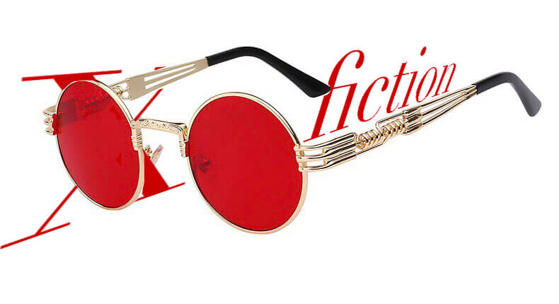 Red eye サングラスのブランドはX_fiction Los Angeles(ノンフィクション ロサンゼルス)